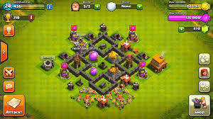Town Hall 4 Base Design Clash Of Clans Town Hall 4 Base Defense