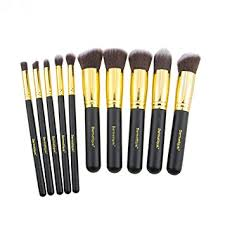dermatique gold makeup brush set beauty blending face powder blush brushes perfect for