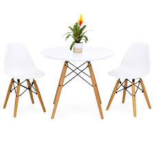 best choice s kids mid century modern eames style dining room round table set w