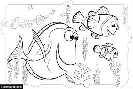 Finding Dory Coloring Pages Pdf Page Animals Easy Coloring Creator