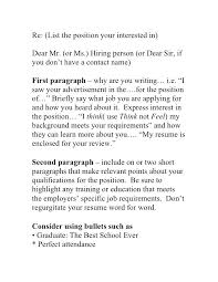 Cover Letter Dos And Don Ts Andone Brianstern Co