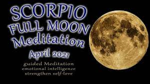 SCORPIO Full Moon April 2021 guided Meditation (long version) Super Full  Moon - pink full moon - YouTube