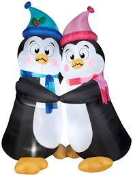 animated christmas penguins. Beautiful Penguins 6u0027 Animated Airblown Shivering Penguins Christmas Inflatable Inside O