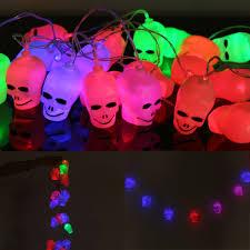 halloween outdoor lighting. 1X Skull LED String Lights Halloween Outdoor Lighting