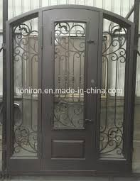 double entry doors with sidelights. Frosted Glass Wrought Iron Double Entry Doors With Sidelights T