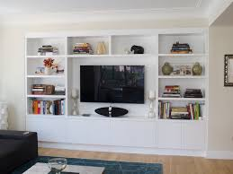 Wall Units, Mesmerizing White Built In Shelves Using Prefab Cabinets For  Built Ins White Shelves