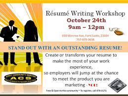 ... Workshop Resume Writing Classes Awesome Joint Base Langley Eustis ...