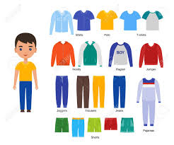 Character Pants Boy With Clothes Vector Baby Clothing Cartoon Character Paper