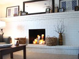 horrible minty painted fireplace painted brick fireplaces decorating