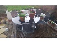 garden table and chairs for sale in leeds. garden round table with 4 chairs and for sale in leeds