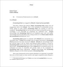 Firing Letter Sample Termination Letters 8 Client Termination Letters Download