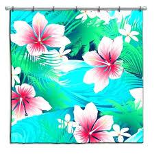hawaiian shower curtain aqua and pink hibiscus shower curtain hawaiian shower curtains fabric