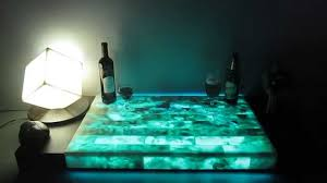 Led Coffee Table Diy Onyx Light Led Illuminated With Glowing In The Dark Effects