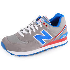 new balance ladies trainers. new balance trainers womens ml574_jak_grey_blue01 ladies
