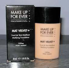 make up for ever mat velvet foundation review