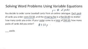 solve word problems using systems of equations