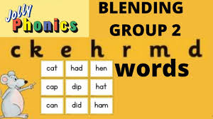 These workbooks are a collection of worksheets based around the different sets from jolly phonics at a more basic level. Jolly Phonics Group 2 Blending Sounding Reading Ckehrdm How To Blend Words Youtube