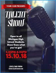 Free Printable Talent Show Flyer Template Marvelous Talent Show
