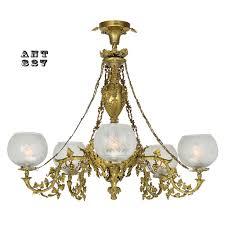 circa 1840 cornelius 5 light gas chandelier converted to electricity