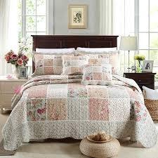 quilts bedding stylish cotton patchwork quilt set fl bedspread quilt bedding sets prepare bedroom quilts coverlets
