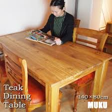 Kanmuryou Bali Teak Dining Table 140 X 80 Cm Natural Color Table