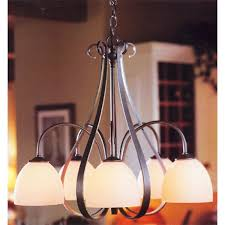 hubbardton forge 5 down lights sweeping taper chandelier hf 10 1445