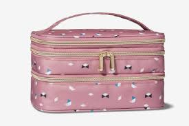 sonia kashuk triple zip train case makeup bag