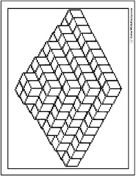 pyramid cubes coloring page 3d coloring pages print and customize on volume of 3d shapes worksheet pdf
