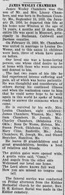 James Wesley Chambers Obituary - Newspapers.com