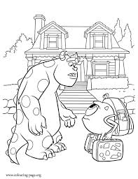 Small Picture Monsters University Mike Meets Sulley Coloring Page Coloring Home