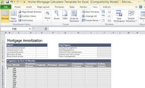 Free Excel Mortgage Calculator Home Mortgage Calculator Template For Excel