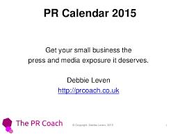 How To Create A Pr Calendar 2015