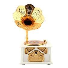 Retro Hand-cranked Phonograph Shape Music Box ... - Amazon.com