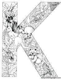 Illuminated Manuscript Alphabet Coloring Pages Illuminated Letters