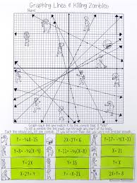 graphing lines zombies all forms maths algebra and graphing linear equations worksheet works this is