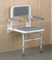 fold down shower seat with arms legs backrest