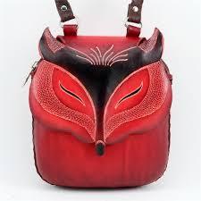 large leather fox purse