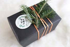 gift wrapping idea with evergreen