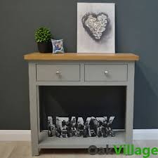 painted console table. Image Is Loading Grey-more-Painted-Console-Table-Oak-Manor-Grey- Painted Console Table T