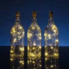 String Light Wine Bottle Solar Powered Led Fairy String Light Wine Bottle Cork Stopper 3 Feet 10 Leds Per Strand
