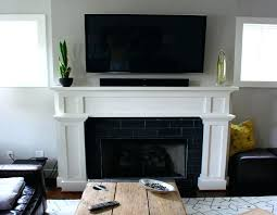 installing wall mounted tv wall mounted with sound bar tn installing wall mount tv above fireplace