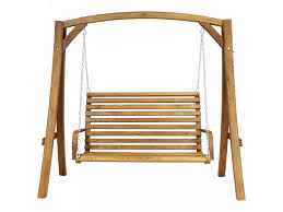 2 3 seater larch wood wooden garden outdoor swing seat bench hammock 1 9m