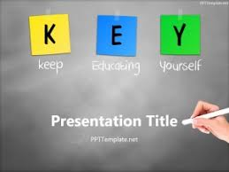 Chalkboard Ppt Theme Free Key Chalk Hand White Ppt Template