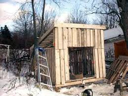 pallet shed. i took several damaged pallets apart and used the boards to overlap spacing in pallets. pallet shed