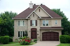 painted garage doors brick home with red garage door exterior paint colors garage doors