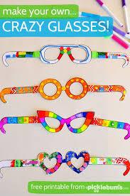 Free Printable Crazy Glasses Crafts For Kids Free Printables