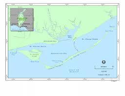 Map Of Apalachicola Bay Identifying Regional Geographic