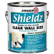 Zinsser 1 gal Shieldz Acrylic Clear Wall Size Case of 4 2101