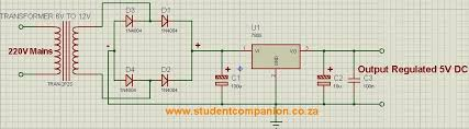 simple 5v dc power supply student companion figure 1 simple regulated 5v dc power supply circuit diagram