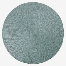 new kaza turquoise jute round rug